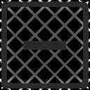 Minus Erase Cut Icon