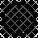 Circle Block Decrease Icon
