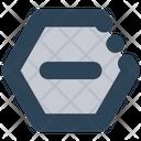 Sign Hexagon Minus Icon