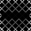Minus Symbol Mini Icon