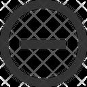 Minus Remove Negitive Icon