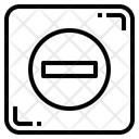Minus Remove Maths Icon