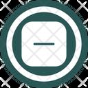 Minus Negative Remove Icon