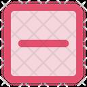 Minus Sq Fr Document Search Icon