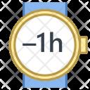 Minus Hour Time Icon