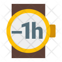 Minus Hour Watch Icon
