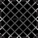 Minus Sign Square Icon