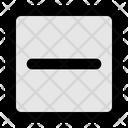 Minus Sq Fr Icon