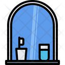 Mirror Toothbrush Glass Icon