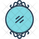 Mirror Looking Glass Round Icon