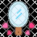 Mirror Make Up Heart Icon
