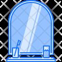 Mirror Toothbrush House Icon