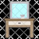 Mirror Table Furniture Interior Icon
