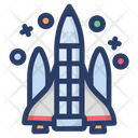 Missile Launch War Weapon Space War Icon