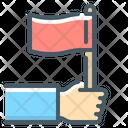 Flag Hand Mission Icon