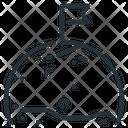 Mission Flag Planet Icon