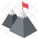 Mission Achievement Victory Mountain Flag Icon