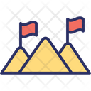 Mission Accomplished Mission Achievement Mountain Flag Icon