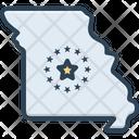 Missouri Map Missouri State Icon