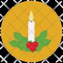 Candle Mistletoe Icon