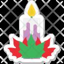 Mistletoe Christmas Candle Icon