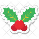 Mistletoe Christmas Leaves Icon