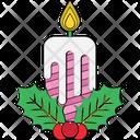 Mistletoe Candle Mistletoe Christmas Icon