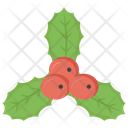 Holly Berries Christmas Berries Holly Leaves Icon