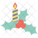 Mistletoe Christmas Candle Icon