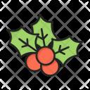 Mistletoe Xmas Decoration Icon