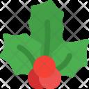 Berry Mistletoe Christmas Icon