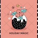 Mistletoe Magic Christmas Icon