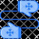 Gloves Clothes Snowflake Icon