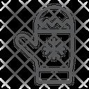 Mitten Winter Glove Icon