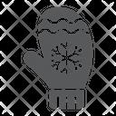 Mitten Winter Clothes Icon