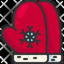 Mitten Clothing Winter Icon