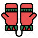 Mittens Winter Mittens Gloves Icon