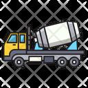 Mixer Truck Construction Icon