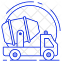Cement Truck Mixer Truck Construction Vehicle Icon