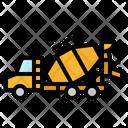 Truck Concrete Mixer Icon