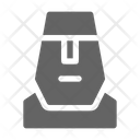 Moai Statue Rock Icon