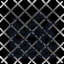Line X Moai Icon
