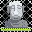 Moai Easter Island Chile Icon