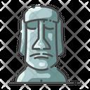 Moai easter island Icon