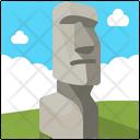 Moai Statues Easter Island Landmark Icon