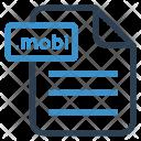 Mobi File Sheet Icon