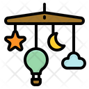 Mobile Baby Cot Icon