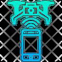 Drone Mobile Control Drone Remote Range Icon