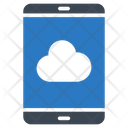 Mobile Cloud Server Icon