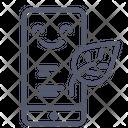 Mobile Smartphone Leaf Icon